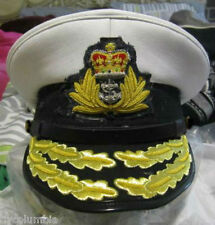 ROYAL NAVY ADMIRAL OFFICER WHITE HAT CAP NEW Size 57, 58, 59, 60, 61, 62 CP MADE