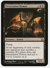 MTG X4: Desecration Demon, Return to Ravnica, R, Light Play - FREE US SHIPPING!