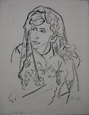 Max Pechstein museale Rarität Das Spitzentuch seltene Lithographie handsigniert