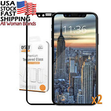 iPhone X Screen Protector [x2], Orzly / 10 Pro-Fit Tempered Glass TWIN PACK...