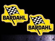 BARDAHL Flag - Set of 2 Original Vintage 1960's Racing Decals/Stickers