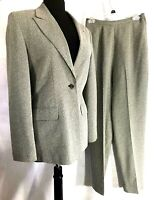 Larry Levine Womens Rayon & Polyester Black & White Pant Suit Sz 6