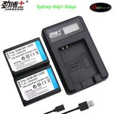 2X BP1030 BP 1030 Battery +Charger for Samsung NX1100 NX-300M NX300 NX500 NX1000