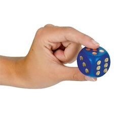 1 Single Extra Large Wooden Die Dice 3cm Blue Red Green or Natural Tobar