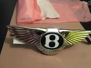 BENTLEY GT CONTINENTAL MULSANNE  BOOT TRUNK  BADGE EMBLEM ELECTRIC BUTTON OEM