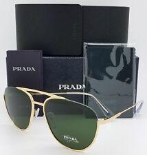 ee47101d991f New Prada sunglasses PR50US 5AK1I0 56mm Gold Green Grey Aviator PR 50  AUTHENTIC