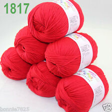 Sale 6 ballsx 50gr DK Baby Soft Cashmere Silk Wool hand knitting Crochet Yarn 17