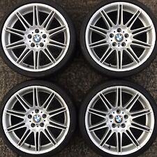 Set 4 Genuine BMW 19 MV4 3 Series Alloy Wheels E90 E91 E92 E93 Tyres 225 255 F30