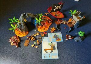 Playmobil Sammlung Piraten Schatzinsel 6679, 5622, Piratenboot 5298, Zubehör