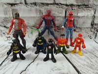 Marvel Mini Figures Bundle. Batman. Robin. Spiderman. The flash etc.