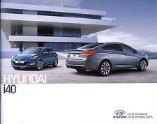 Hyundai i40 09 / 2013 brochure catalogue 42 p.