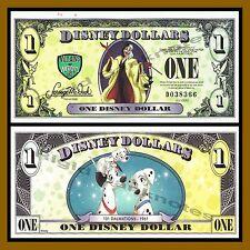 "Disney 1 Dollar, 2013 ""D"" Series, 5 Digit Serial 101 Dalmatians ""Error"" Unc"