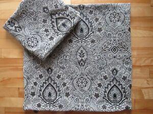 "2 Pier 1 Imports Throw Pillow Covers Zipper Close 24"" X 24"" Soft Grays & Black"