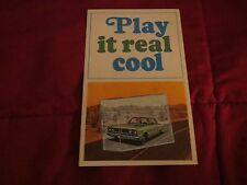 1967 CHRYSLER COOL AIRE COOL COMFORT AIR CONDITIONING DEALER SALES BROCHURE