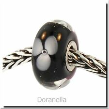 Authentic Trollbeads Glass 61302 White Flower :1