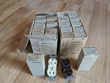 Lot Of 33 General Electric GE4096-1 GE4096-2 Brown & Ivory Double Outlets