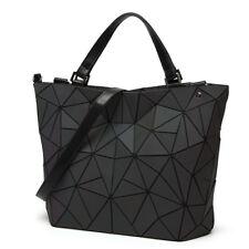 Women Japan style Handbag Geometric Laser Luminous Lingge Bag Bucket Bag