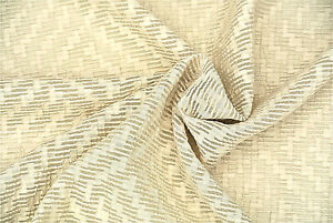NATAURAL ECRU TRANSLUCENT COTTON LINEN JAQUARD ORGANZA VOILE MADE IN ITALY  D126