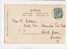 Miss M Cockburn Belle Vue Alexandra Park Road Wood Green London 1902 309b