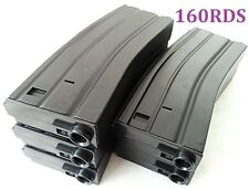 E&C 5 Pcs 140 Rounds 6mm Pellets Plastic Mag For Airsoft M Ser Black (EC-MA003A)