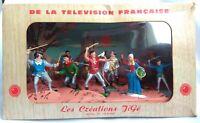 Vintage Starlux?, 1950/60's. Boxed Thierry La Fronde. 54mm scale plastic.