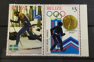 BELIZE # 509. OLYMPIC EVENT AND WINNING COUNTRY. CROSS COUNTRY / SWEDEN. MNH