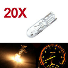 20pcs 12V 1.2W T5 286 Auto Car Instrument Lights Amber Miniature Bulb Indicator