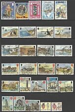 ISLE OF MAN - OLD COLLECTION to 1989, 39 different USED (2 SCANS)
