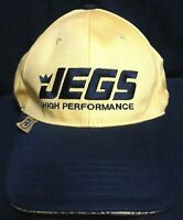 JEGS High Performance Yellow Black Embroidered Adjustable Baseball Hat/Cap