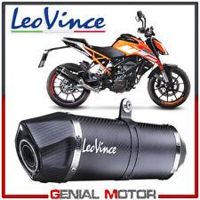 Leovince Auspuff Lv One Evo Carbon Fiber Ktm Duke 125 2017 > 2019
