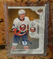 2019-20 UD Engrained - OLIVER WAHLSTROM - Auto Rookie Base Oak On-Card Autograph