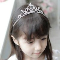 US Kids Girls Crystal Diamond Rhinestone Tiara Hair Band Princess Crown Headband