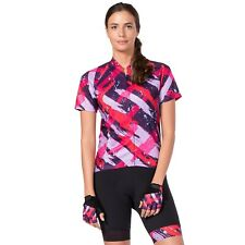 Women's Terry Sleeveless Cycling Jersey Abstract Size S