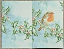 40 x A6 Sheets of Robin and Holly Paper for Cards/Scrap-booking etc 110gsm NEW