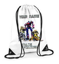 Transformers Personalised Drawstring Bag PE School