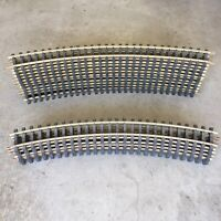 """Lot Of (18) G Scale ARISTOCRAFT BRASS CURVE TRACK (12 /31"""" & 6 /29"""")"""