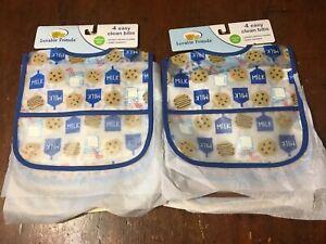 8 Luvable Friends Baby Boys Crumb Catcher Waterproof Easy Clean NWT Milk Cookies