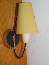 ancien LAMPE murale APPLIQUE en laiton WALL alt lamp BRAS vintage BOIS wood HOLZ