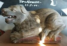 STUNNING VINTAGE HAND CARVED WOOD LION POSSIBLY CONTINENTAL