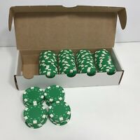 100 Piece Striped Dice Design 11.5 Gram Poker Chips Green Replacement Home Game