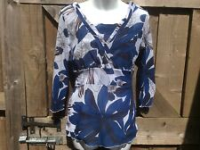 COAST 2 PIECE TWIN SET CAMI/LIGHTWEIGHT CROSSOVER TOP BLUE/WHITE FLORAL  12UK