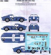decal 1/43 FERRARI 250 GTO '62 Ch.3387GT N.A.R.T. + 3223GT RENAISSANCE DU308C