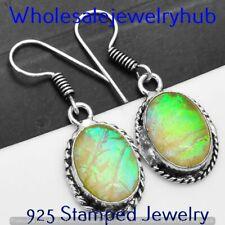 Silver Plated Earring Jewelry E-3585 Dichroic Glass Earring 925 Sterling