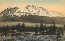 Hand Colored Postcard Mount Shasta Siskiyou County CA