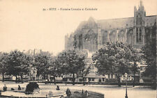 R138777 Metz. Fontaine Comedie et Cathedrale. E. Weber