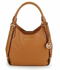 New Michael Kors Bedford Belted Large Tote Acorn All Pebble Leather