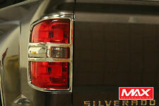 TLCH105 - 2015-2017 GMC Sierra 3500HD Dually Taillight Chrome Trim Covers