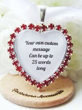 Personalised Wedding Bouquet Charm Red Flower Girl Bridesmaid Maid Of Honour