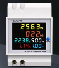 ATEC - Multifunzione 6 in 1 Display LCD AC40-300V/0-100A per DIN-RAIL (D52-2066)