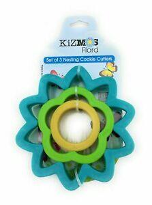 KizMos Flora Set of 3 Nesting Cookie Cutters